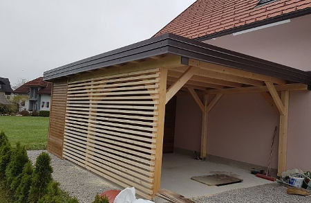 leseni nadstreški