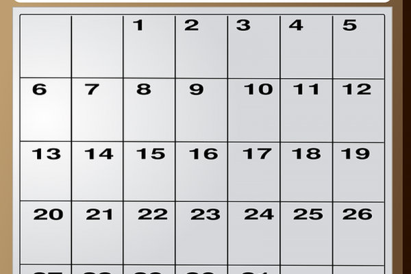 tisk koledarja